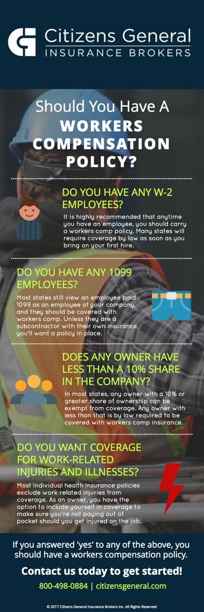 Workers Comp Cheat Sheet Infographic
